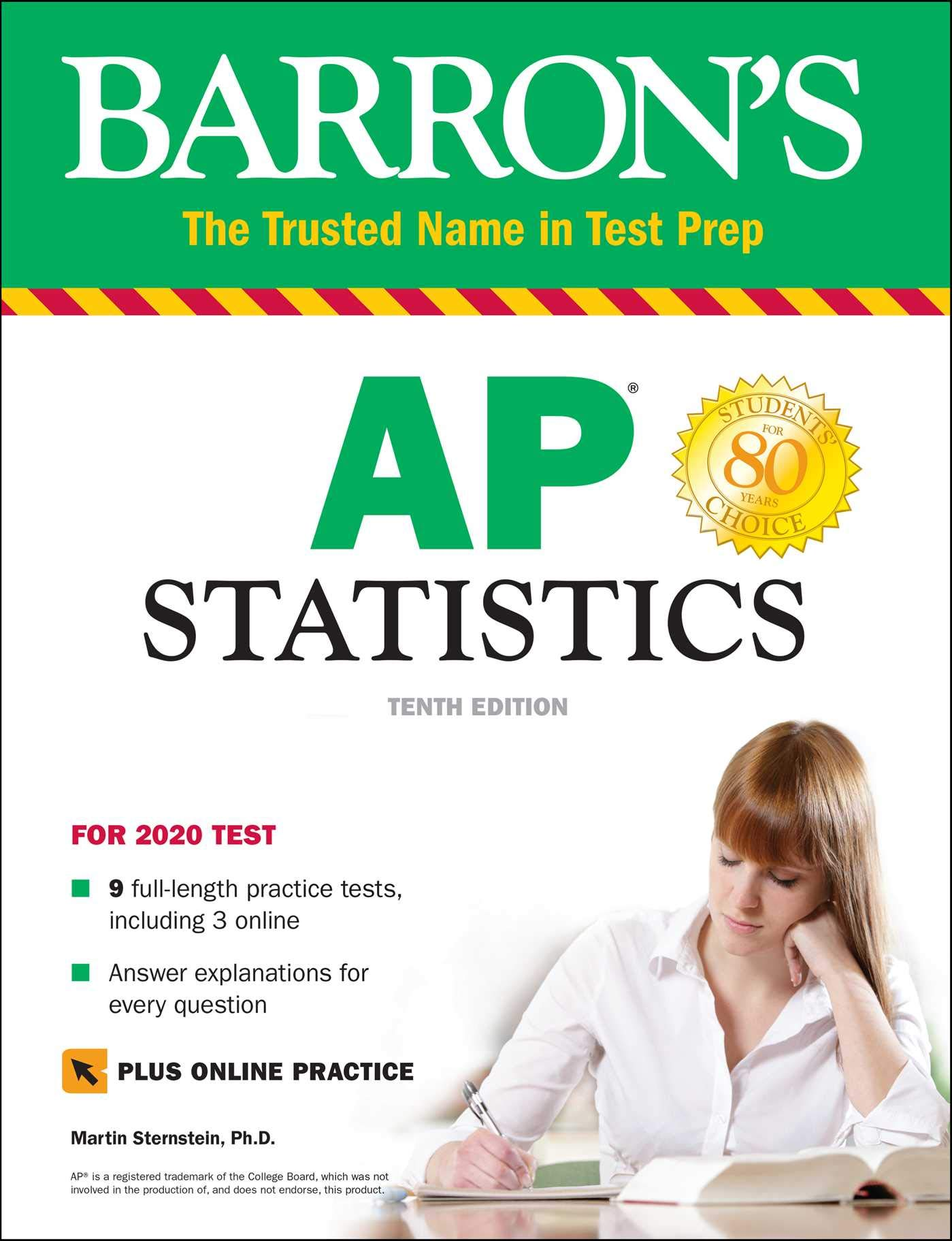 Barron's AP Statistics with Online Tests (Barron's Test Prep) by Barrons Educational Series