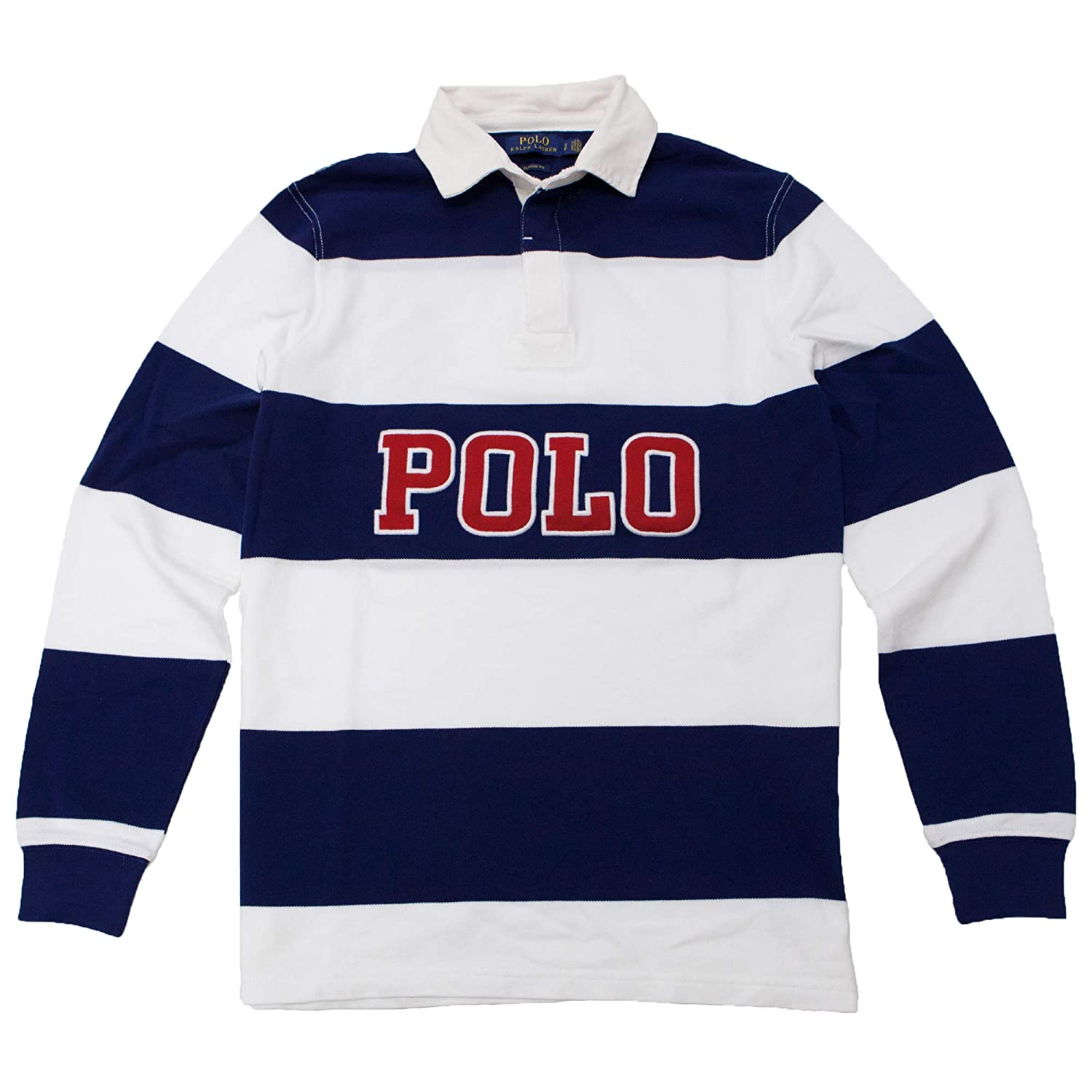 Polo Ralph Lauren Classic Fit Striped Long Sleeve Rugby Polo Shirt