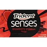 Trident - Senses Strawberry Passion - Chicle sin azúcar con sabor a fresa - 27 g