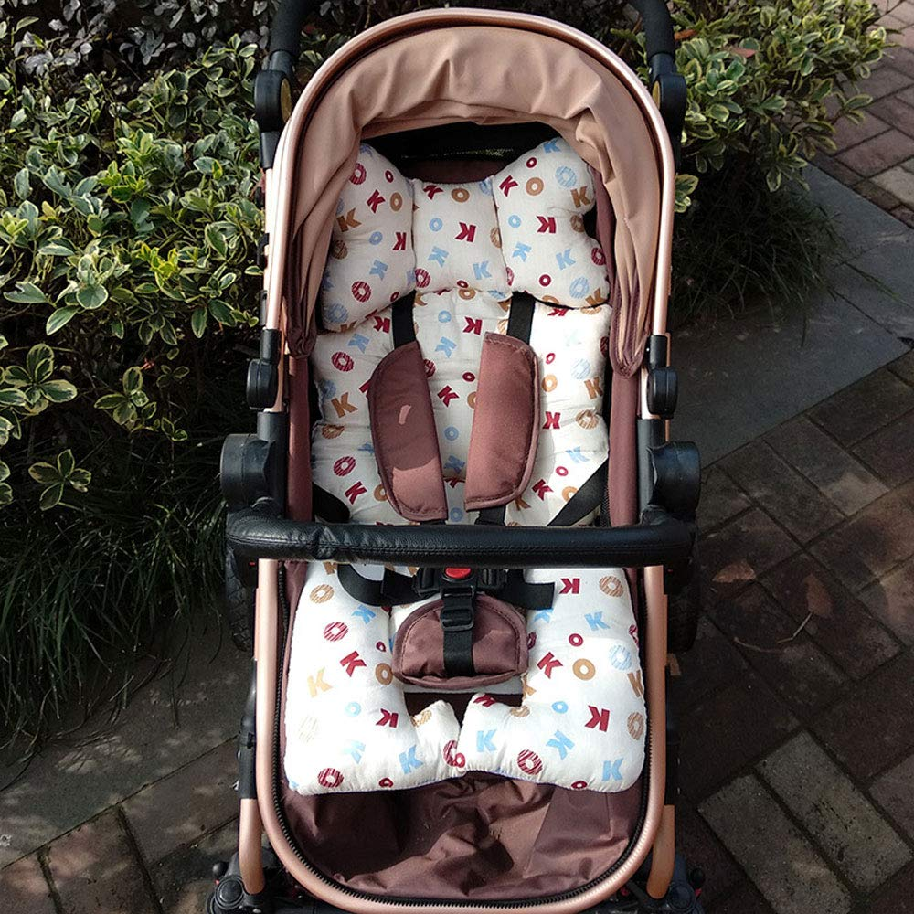 HXPH Universal Kinderwagen Sitzauflage Baumwolle wasserdichte atmungsaktiv Sitzeinlage f/ür Baby Kinderwagen Buggy