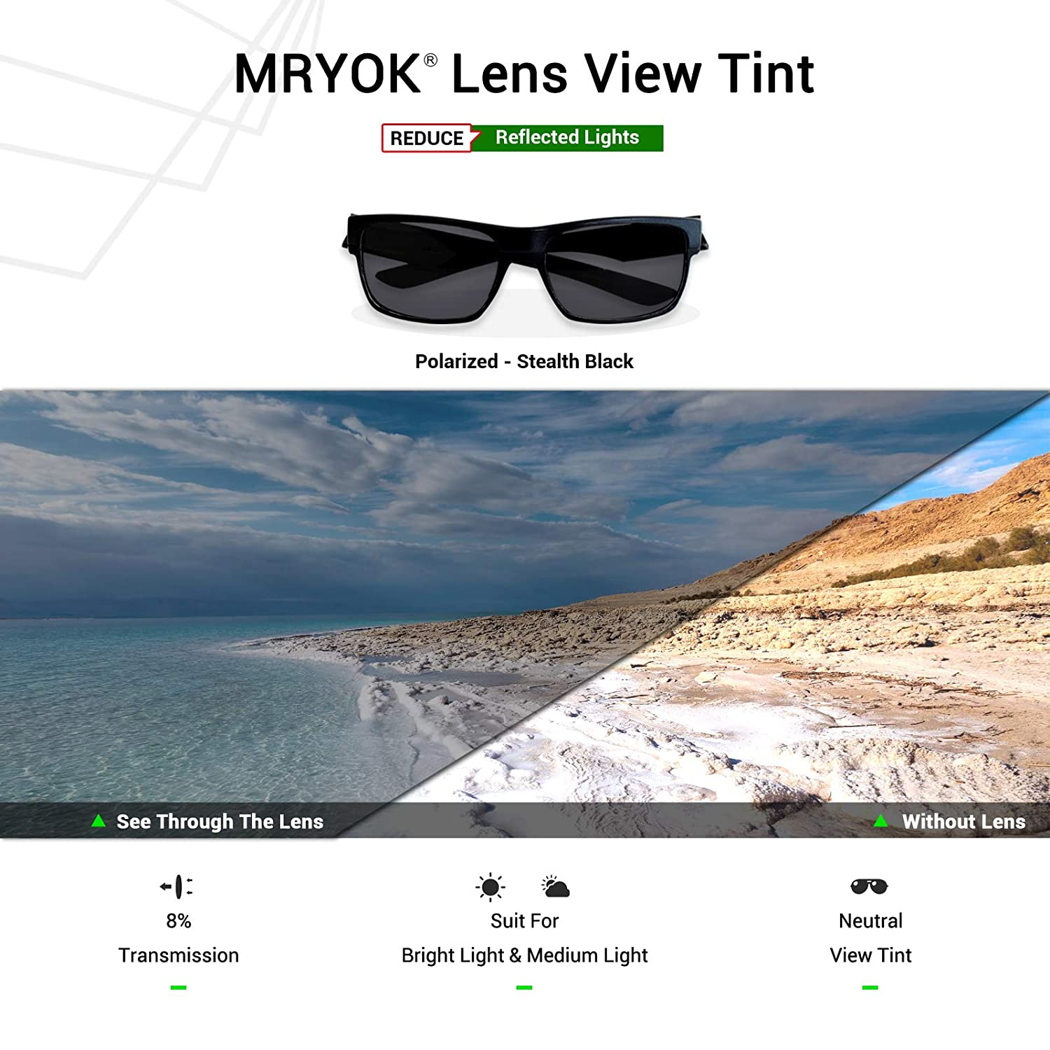 d23a1b783db Amazon.com  Mryok Polarized Replacement Lenses for Revo Red Point RE4039 - Stealth  Black  Clothing