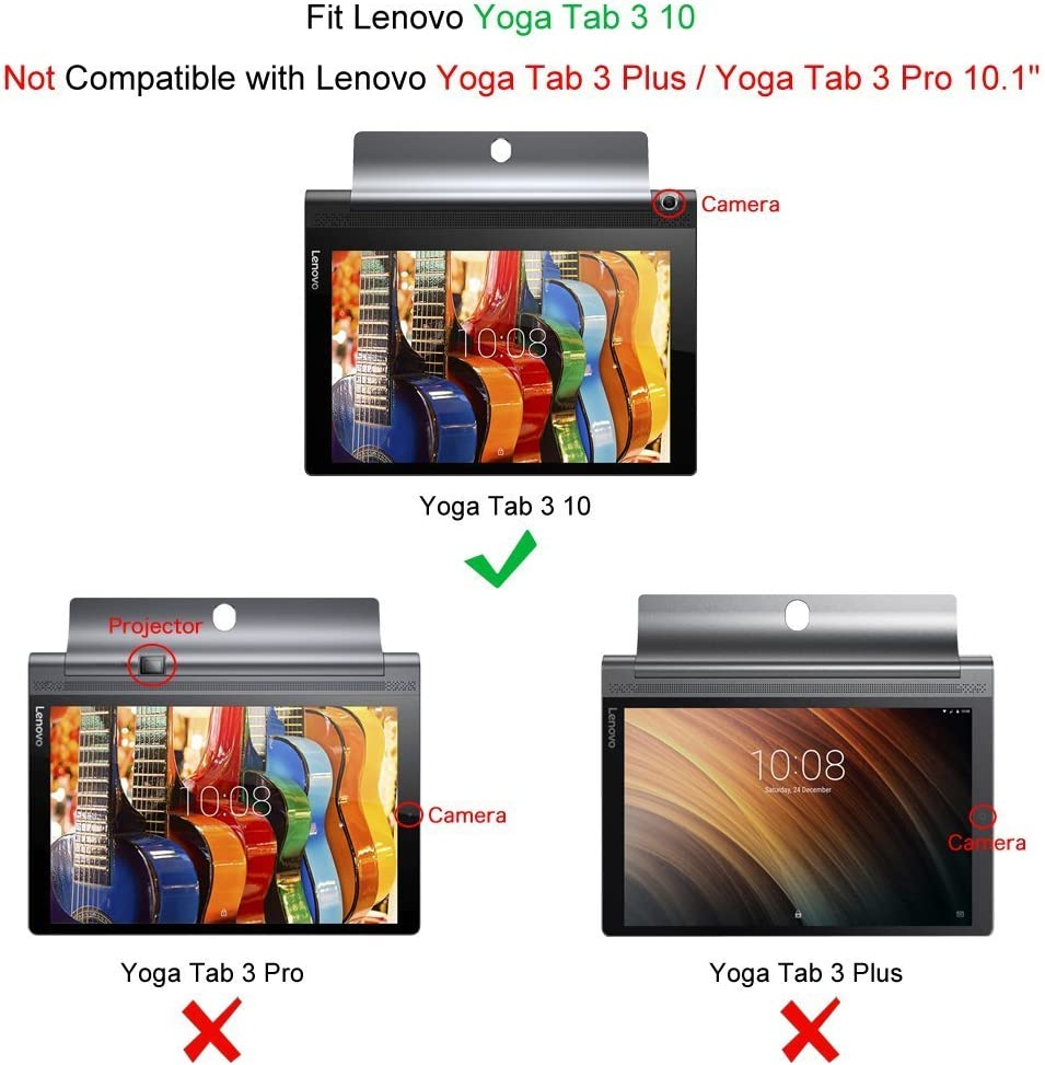 Fintie Folio Funda para Lenovo Yoga Tab 3 10: Amazon.es: Electrónica