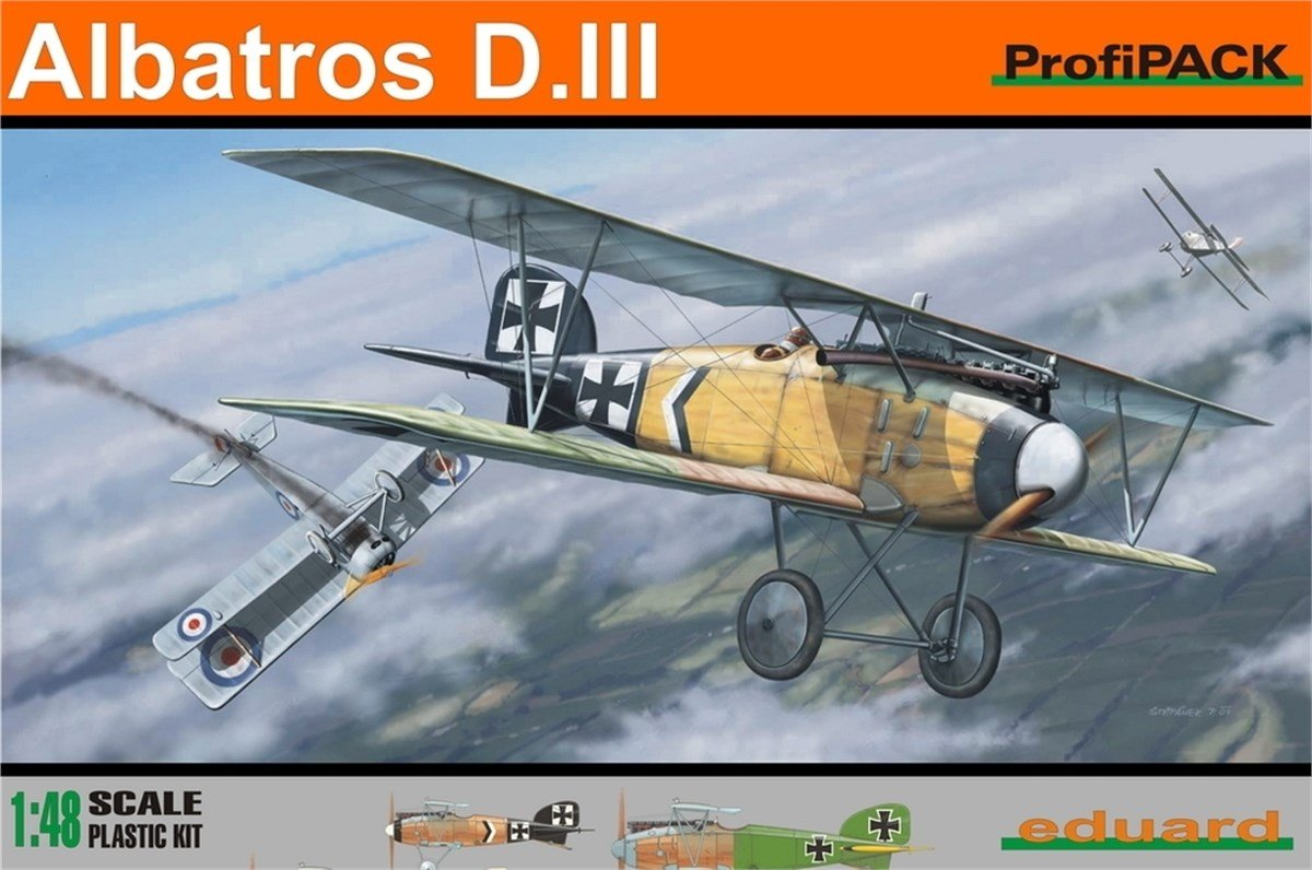 1 48 Eduard Kits Profipack Albatros D.iii Model Kit.