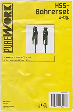 Bohrer HSS Spiralbohrer 1-30mm Metallbohrer Stahlbohrer mit reduziertem Schaft 15 mm Schaft 13 mm