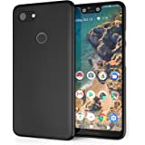 Caseflex Low Profile Google Pixel 3 XL Case with Ultra Slim and Lightweight Protection Soft Silicone Flexible Cover with Matte Finish for The Google Pixel 3XL - Black - CS0008GOXL