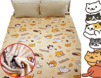 buy spj japanese smartphone game neko atsume blanket cute kitty