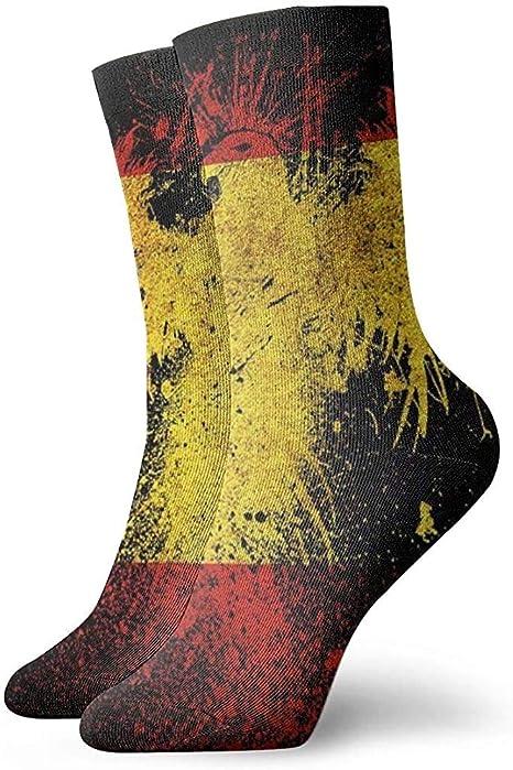 Kevin-Shop Bandera de España y Eagle Classic Crew Calcetines de Punto Plano Casual Athletic Stoking Soft: Amazon.es: Deportes y aire libre
