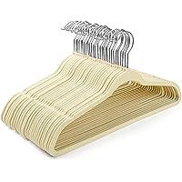 HOUSE DAY Velvet Hangers -60 Pack- Non Slip Flocked Hangers Velvet Suit Hangers Space Saving Clothes Hanger Beige Velvet…