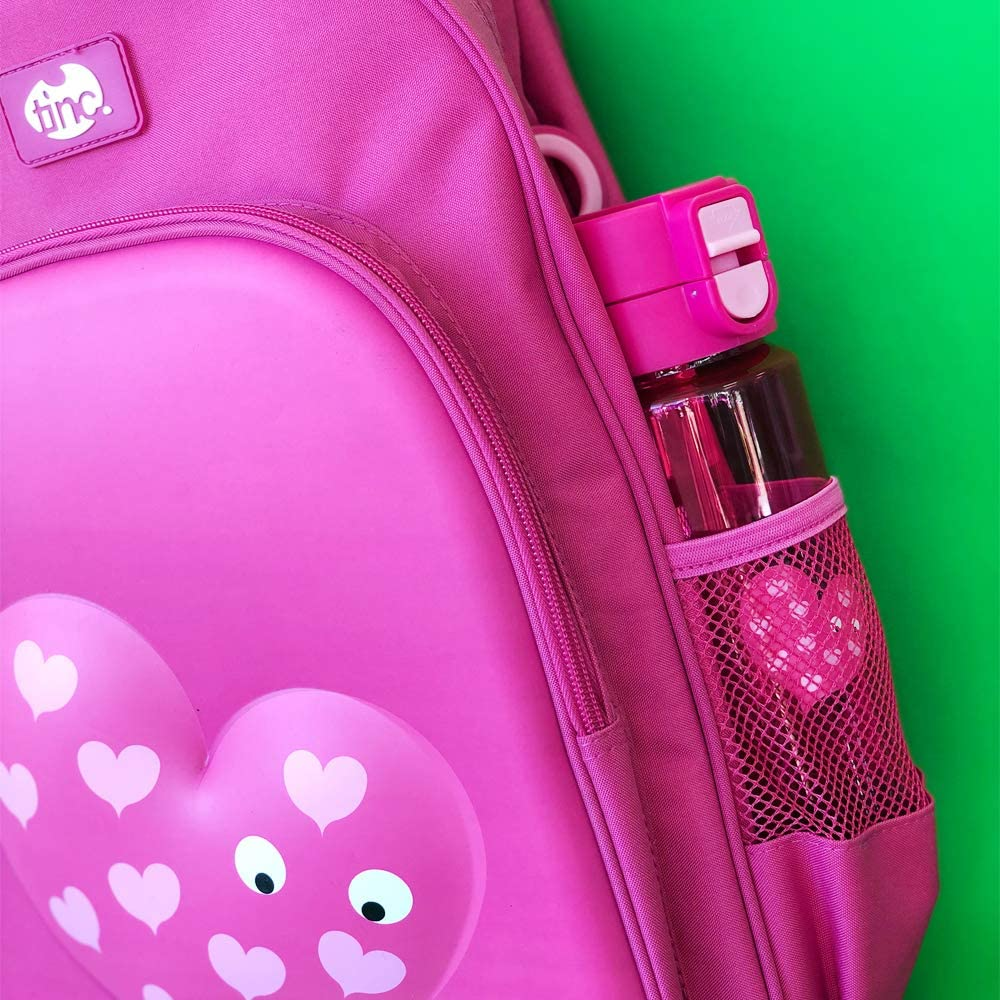 Tinc Tinc Mallo Character Insulated Cool Lunch Bag Pink Cartable Rose Drinks Holder and Shoulder Strap 27 cm Pink