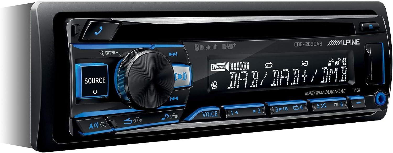 Alpine CDE-205DAB Autorradio Bluetooth (Dab, CD, USB, AUX IN), Negro