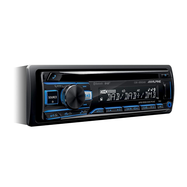 Schwarz RGB Beleuchtung Alpine Electronics CDE-205DAB Autoradio DAB 1DIN