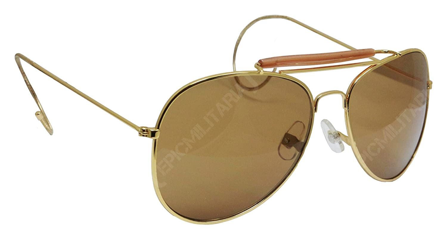 9fd1bb262 Amazon.com: US Pilot Style Aviator Sunglasses with Mirrored, Brown or Green  Lenses(Mirrored): Sports & Outdoors