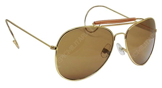 46c19ffb82 US Vintage Top Gun Pilot Style Aviator Sunglasses with Mirrored ...