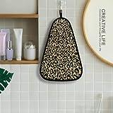 senya Leopard Animal Print Hand Towel, Hanging Loop Washcloths Hand Cleaning Towels Fast Drying Super Absorbent