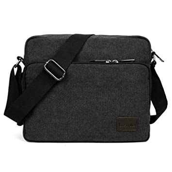 37e865bfc2b6 LOSMILE Small Messenger Bag, Mens Canvas Shoulder bags for Work, School,  Daily Use