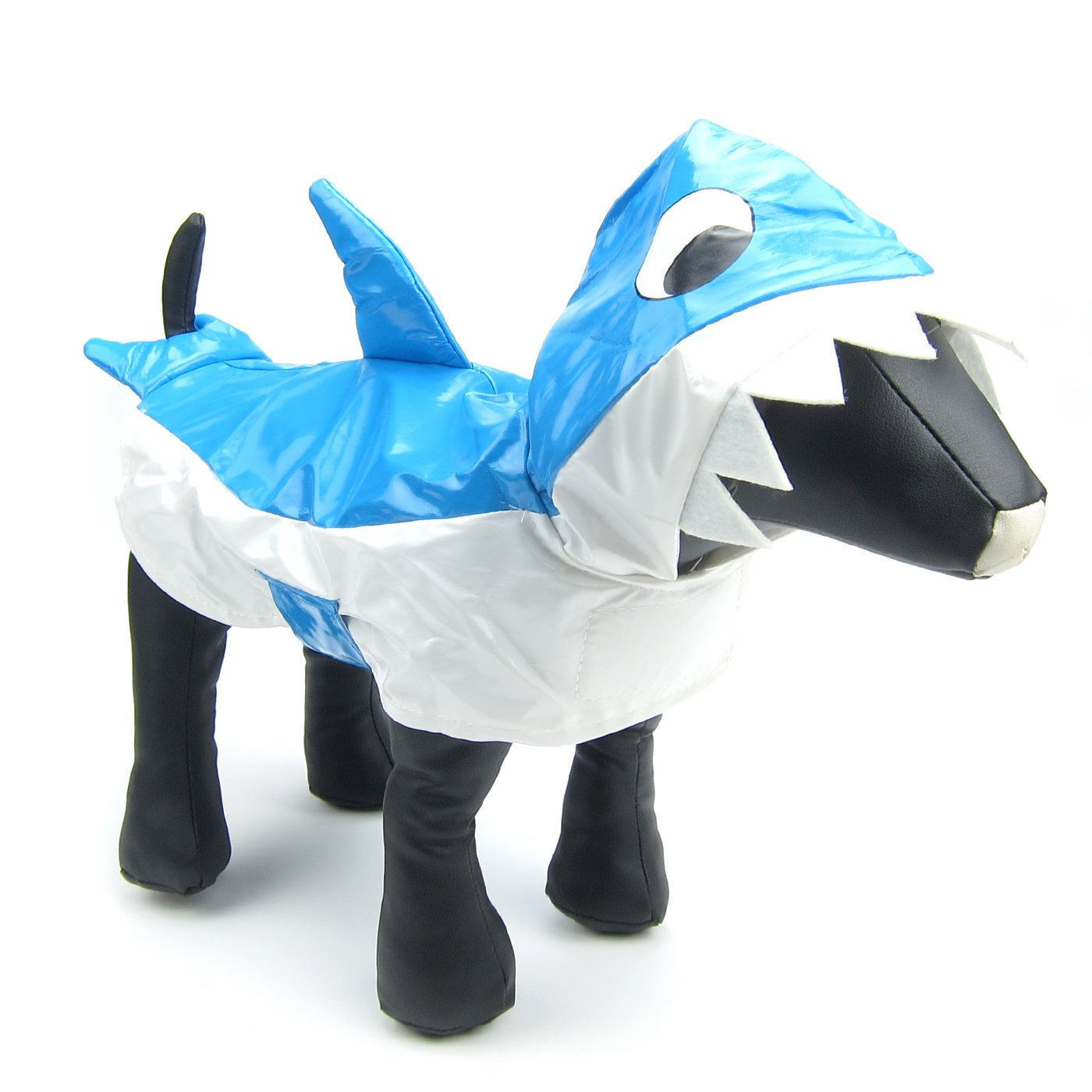 Alfie Pet by Petoga Couture - Karen Shark Slicker Waterproof Raincoat (for Dogs and Cats) - Color: Blue, Size: Medium