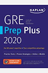 GRE Prep Plus 2020: 6 Practice Tests + Proven Strategies + Online + Video + Mobile (Kaplan Test Prep) Paperback