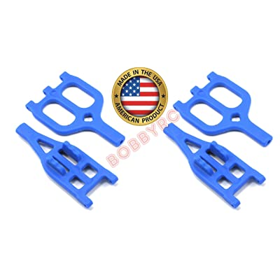 2 Pack RPM 80465 Front Rear Blue Suspension Arms Traxxas 2.5 3.3 T-maxx Emaxx: Toys & Games