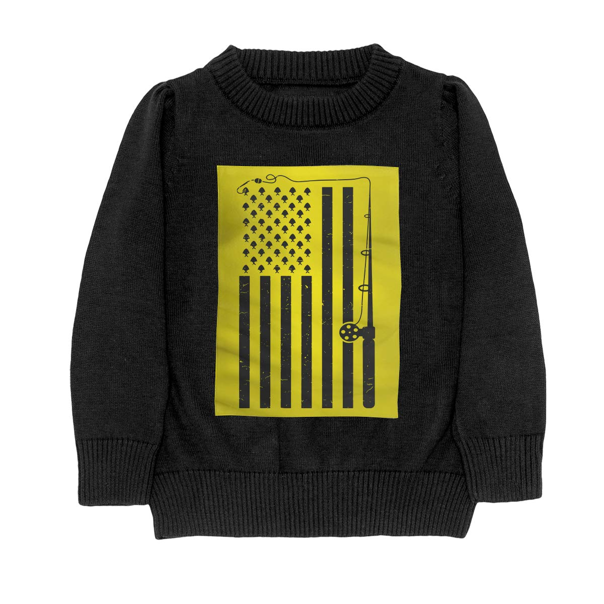 WWTBBJ-B Fishing American Flag Cool Teenager Boys /& Girls Unisex Sweater Keep Warm