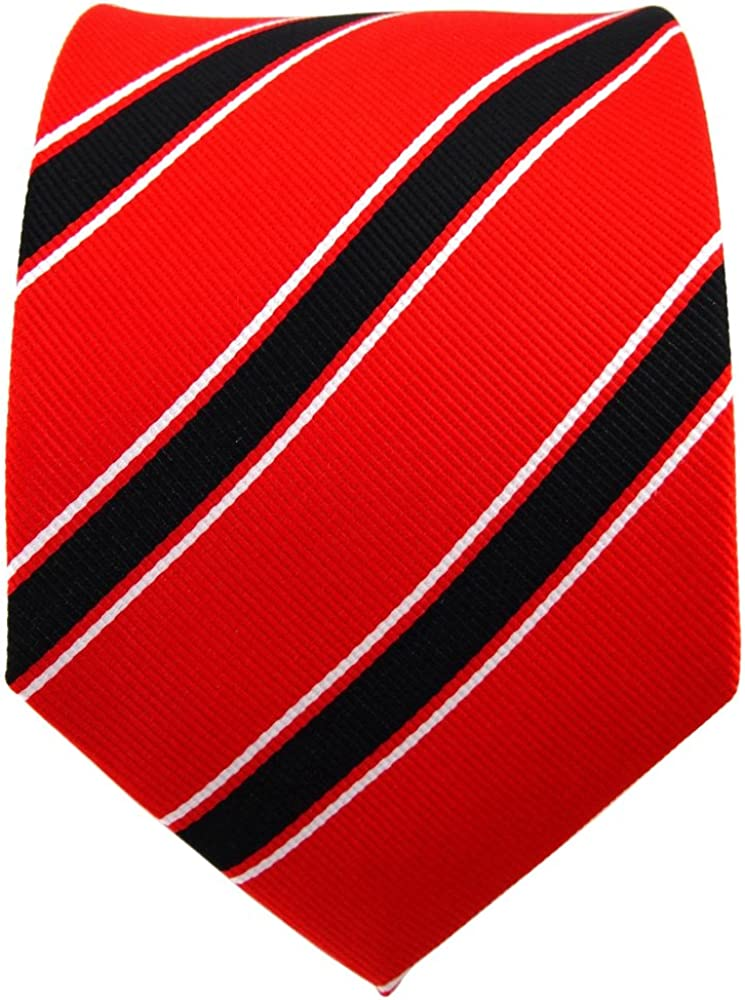 TigerTie diseñador corbata de seda - rojo rojo fluorescente negro ...