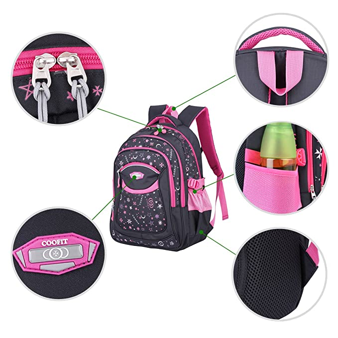 2097998a1ddf Coofit School Backpack for Girls   Boys Back to School Supplies for Middle  School Cute Bookbag for School  Amazon.com.au  Fashion