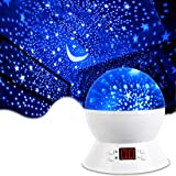 [Upgrade] MOKOQI Rotating Star Sky Projection Night Lights Toys Table Lamps with Timer Shut Off & Color Changing for 1…