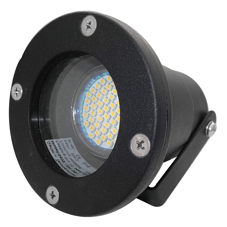 5 Stück IP68 SMD LED Boden Aufbaustrahler Sophie Schwarz 230 Volt 7 Watt Lichtfarbe Neutralweiß
