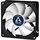 ARCTIC F9 Silent - 92 mm Case Fan, Extra Quiet Motor, Computer, Almost inaudible, Push- or Pull Configuration, Fan Speed: 1000 RPM - Black/White