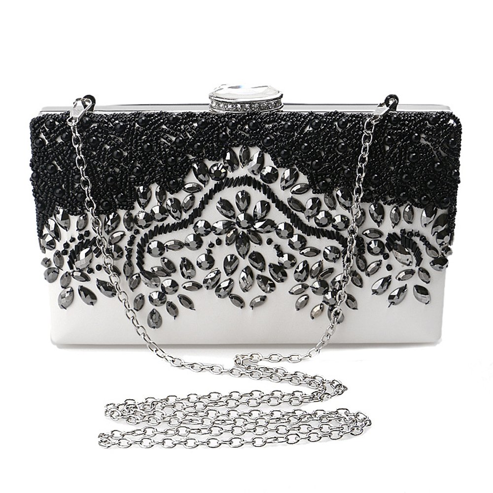 Evening Clutch Bag Crystal Pearl Beaded Purses For Women Party Bridal Handbag Wedding Evening Purse