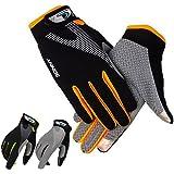 monoii(モノイー) 収縮素材でフィットする トレッキンググローブ 通気性 春夏用 カラーとサイズ選択可/スマホ対応 クライミング 手袋