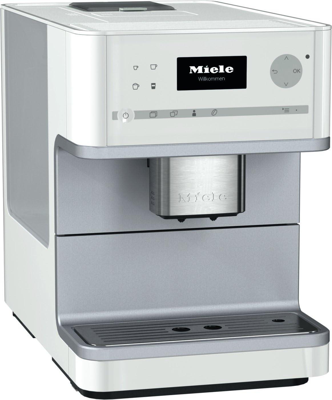 Miele CM 6110 Independiente Totalmente automática Máquina espresso 1.8L Blanco - Cafetera (Independiente, Máquina espresso, 1,8 L, Molinillo integrado, 1500 W, Blanco): Amazon.es: Hogar
