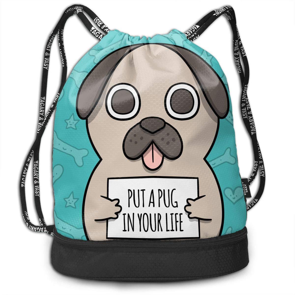 dd09484046ec Amazon.com: HUOPR5Q Dog Drawstring Backpack Sport Gym Sack Shoulder ...