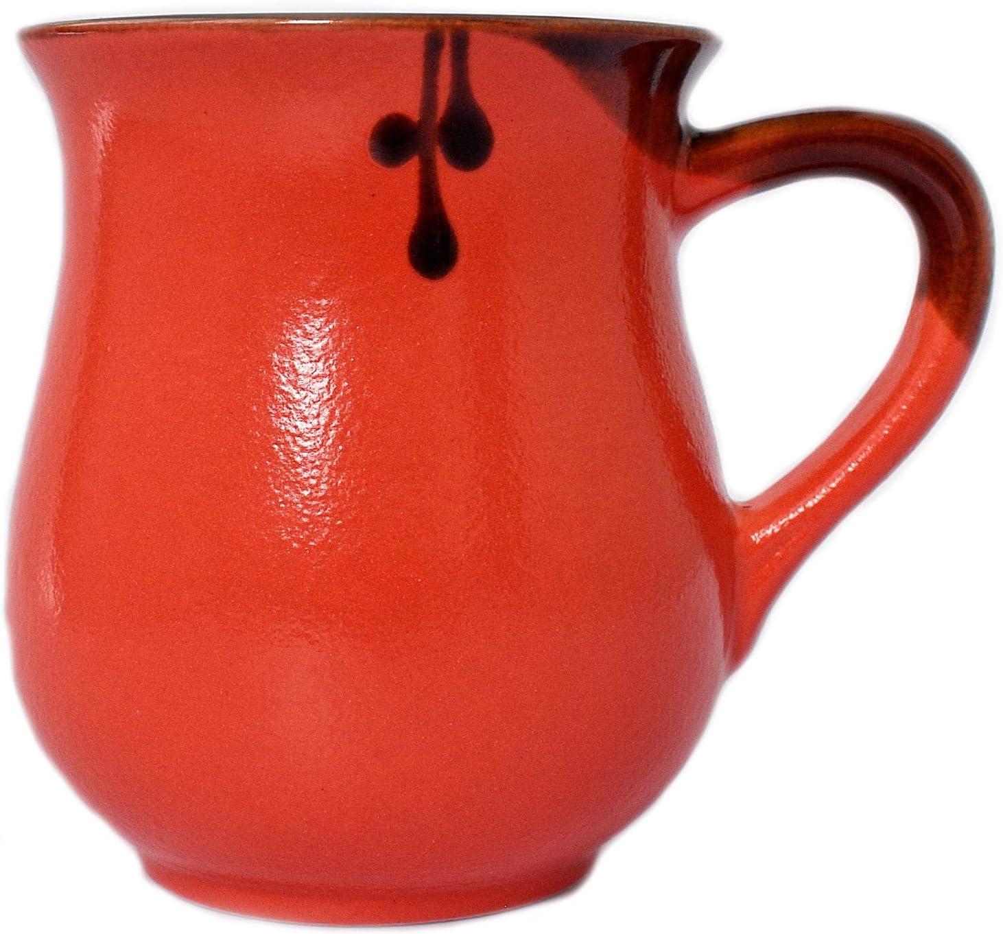 Pottery coffee mug «Standart Red» 10 oz