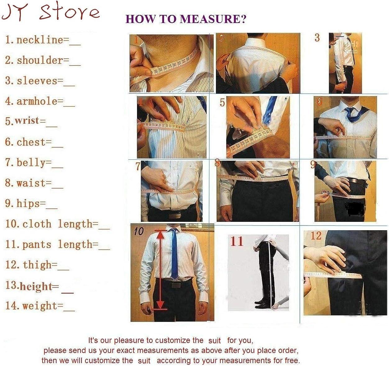 JYDress Mens Grey Suit Slim Fit Blazer Wedding Groom Suits Wedding Groom Tuxedo