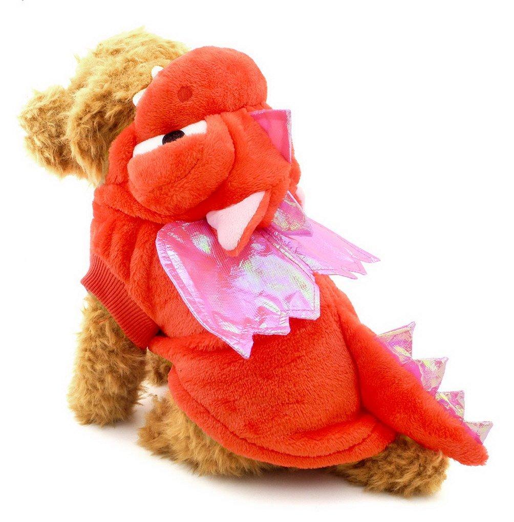 Pegasus Puppy Cartoon drago costume con cappuccio giacca Appendiabiti per piccoli cani e gatti sotto 20kg