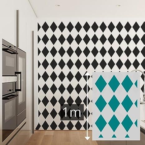 Pochoir Peinture Murale Géant 100 X 70 Cm - Formes Géométriques