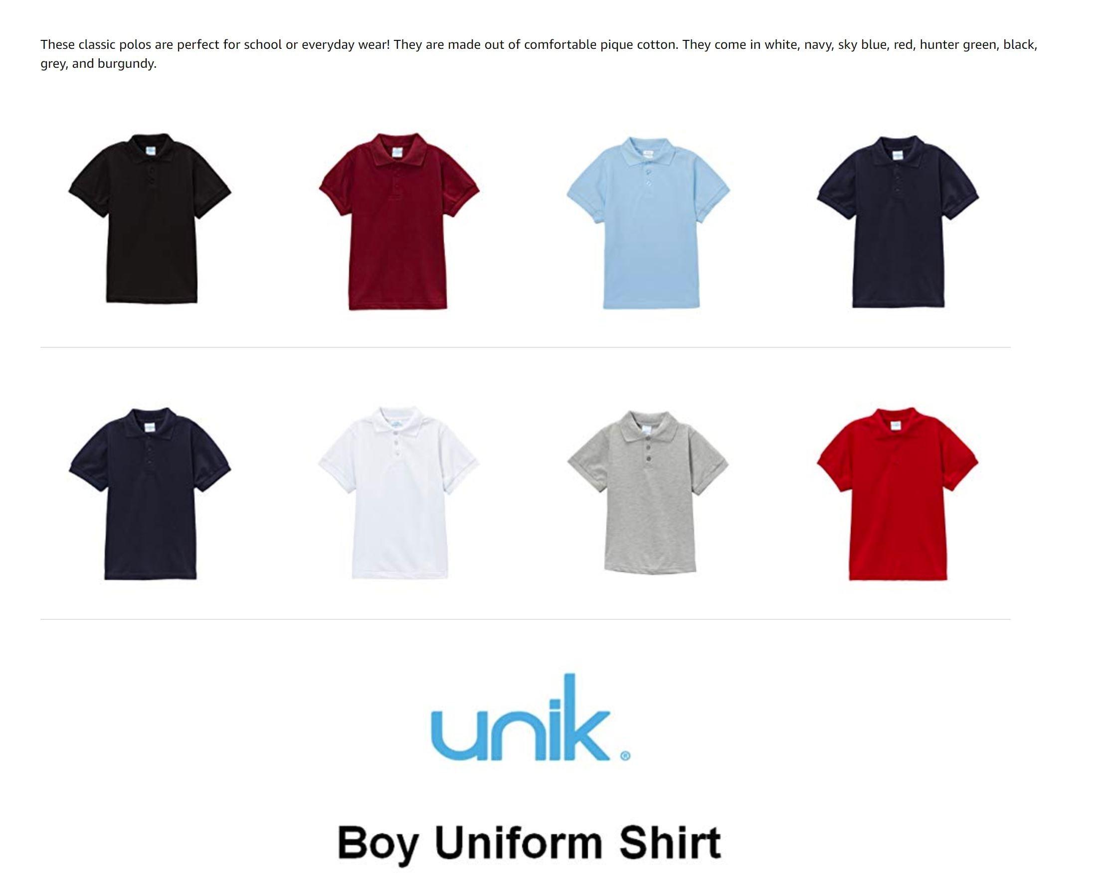 unik Boys Premium Fleece Sweatpants Size 5-16 Super Warm and Comfortable Great for PE Class
