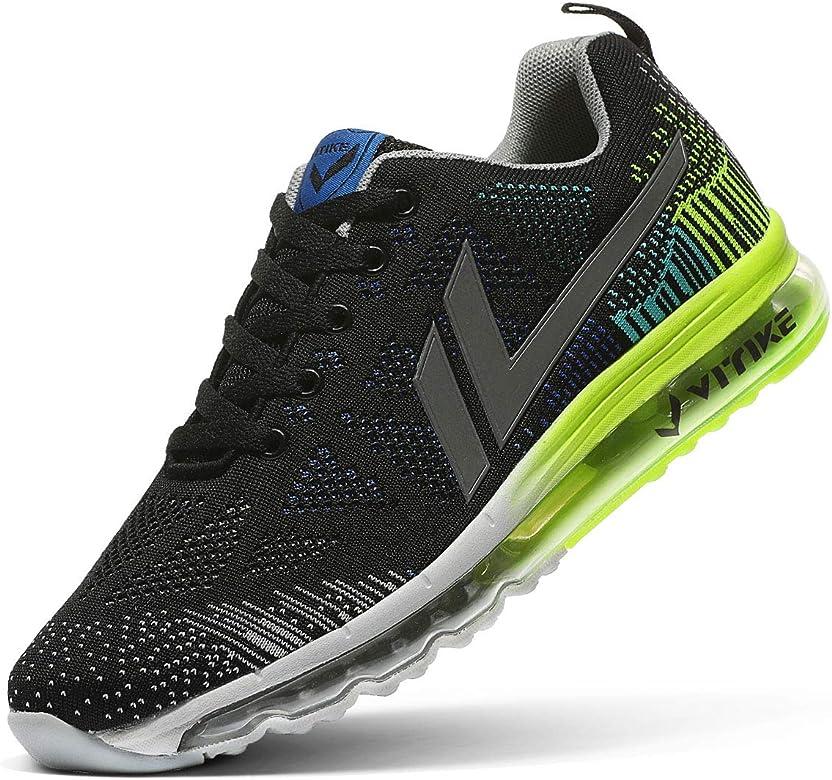 Air Zapatillas de Running para Hombre Mujer Zapatos para Correr y Asfalto Aire Libre y Deportes Calzado(A Negro,39 EU): Amazon.es: Zapatos y complementos