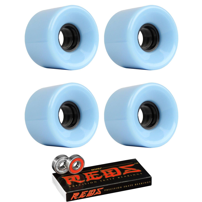 スケートボードクルーザーWheels 59 mm x 43 mm 83 a 291 CブルーBones Redsベアリング   B01I29K6YA