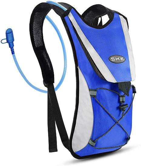 Imagen deSKL Mochila de hidratación con 2l Mochila de hidratación Vejiga del Agua Mochila de Senderismo Mochila de Ciclismo para Escalada Camping Correr