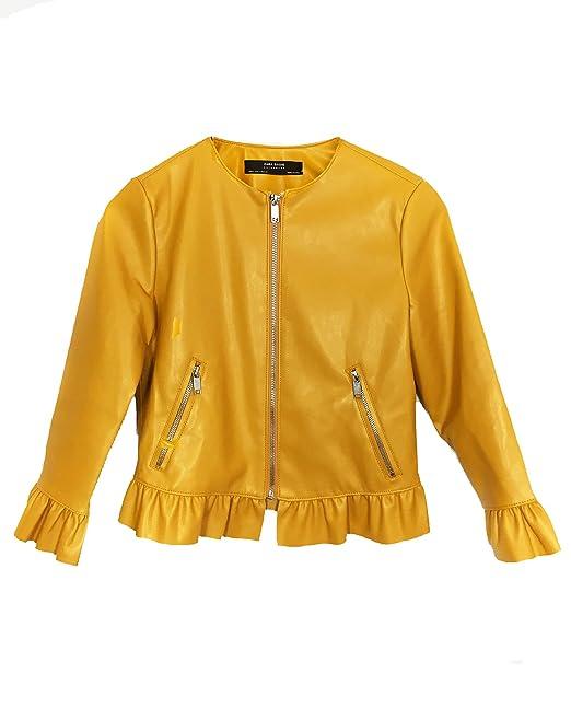 Zara - Chaqueta - para mujer amarillo amarillo Medium ...