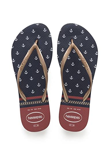 1b25f025bc432 Havaianas Damen Slim Nautical Zehentrenner  Amazon.de  Schuhe ...