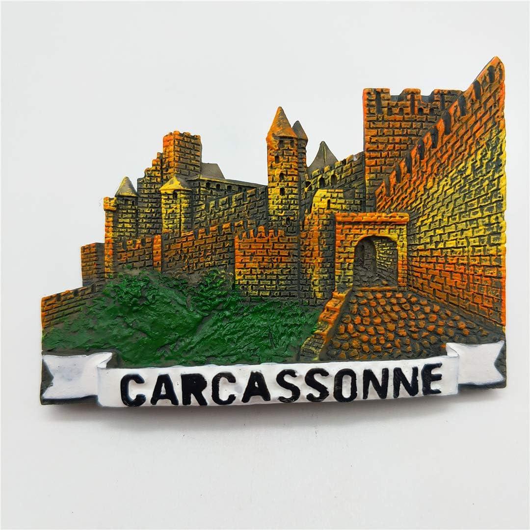 Hqiyaols Souvenir Carcassonne Francia Refrigerador 3D Imán de Nevera Recorrido Ciudad Recuerdo Colección Cocina Decoración Tablero Blanco Etiqueta Resina: Amazon.es: Hogar