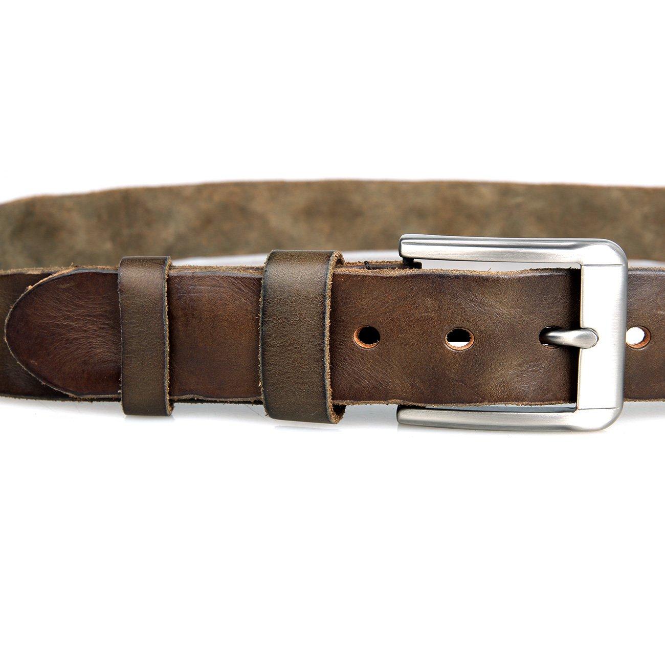 Genda 2Archer Mens Casual Jean Belt 35mm Leather Dress Belts