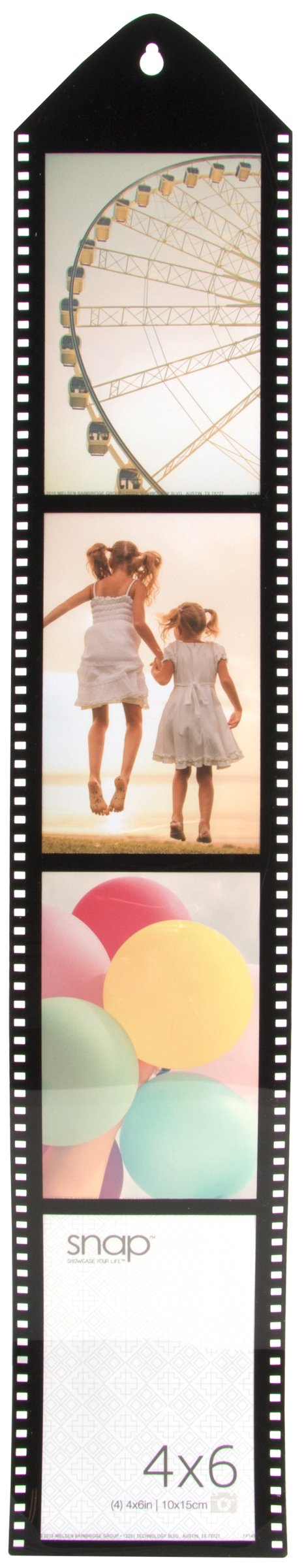 Snap Movie Reel Picture Frame with 4-4x6 Openings