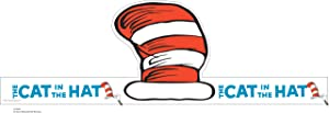 Eureka Dr. Seuss Back to School Cat In The Hat Adjustable Classroom Party Hat, 32 pcs