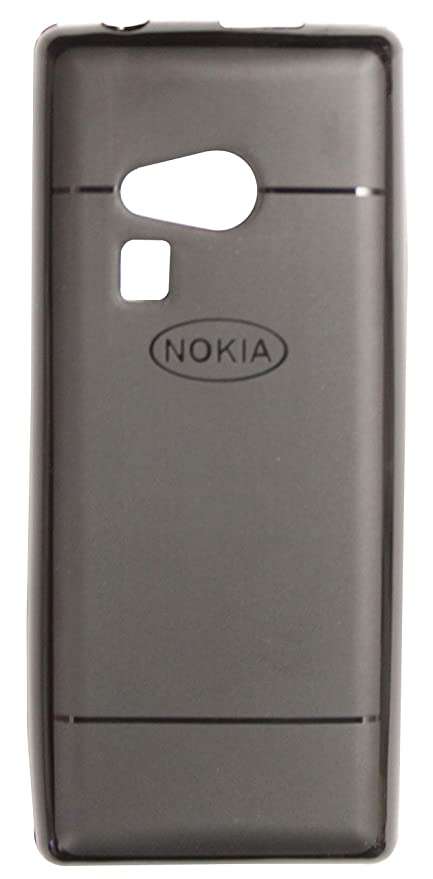100% authentic 8282d 96b45 FCS Soft Silicon Flexible Back Cover for Nokia 216 (Black)