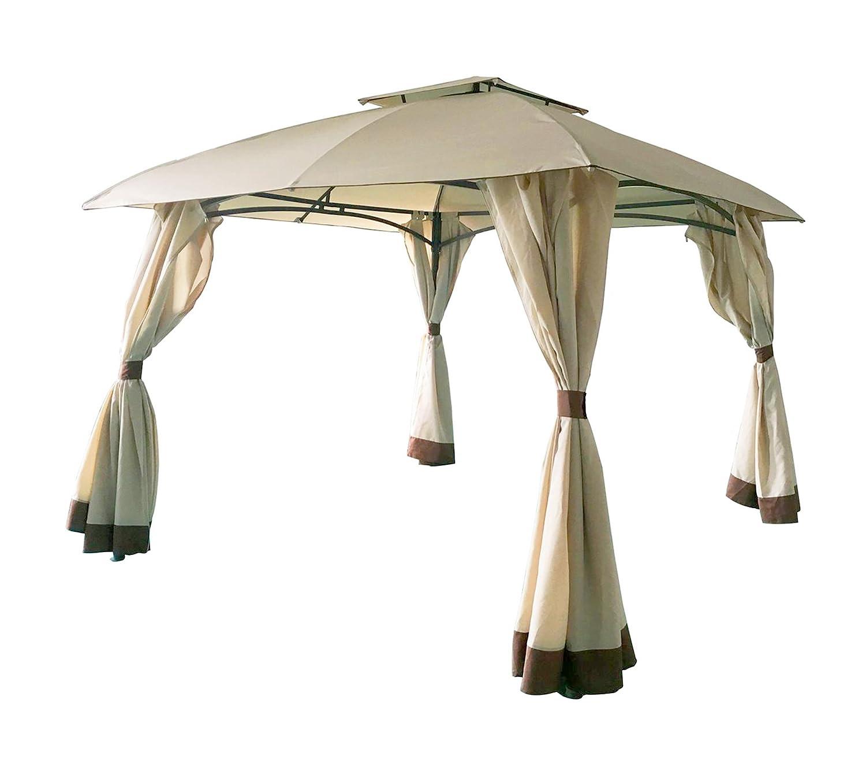 Homdox Tenda Gazebo Padiglione Pieghevoli Impermeabile 3M 3M con Pannelli Laterali Finestra Matrimonio in Giardino in Acciaio Rivestito a Polvere Verde Eventi