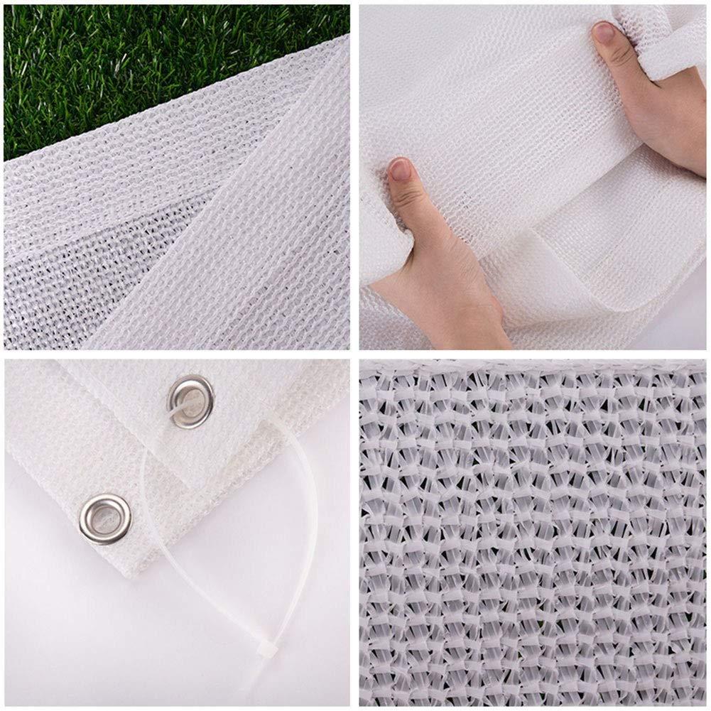 Enviar Cuerda 5M Dosel De Lona De Verano para Patio//Terraza Size : 1x1m Tela de sombra Blanca 80/% De Protector Solar con Ojales