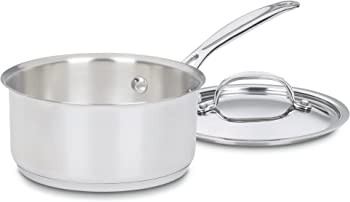 Cuisinart Stainless Steel 1.5 Qt. Covered Saucepan
